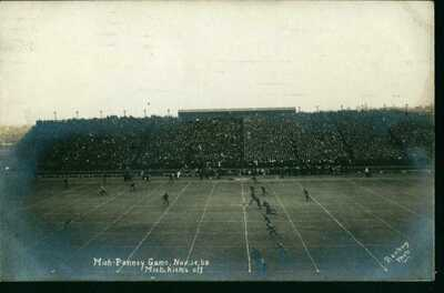 1908 RPPC Football Stadium Postcard Michigan Wolverines Vs Penn Quakers Champs!!