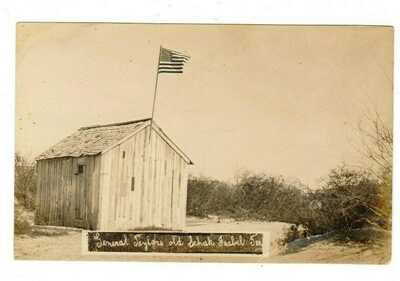 EARLY 1900s RPPC REAL PHOTO POSTCARD Zachary Taylors Shack- Isabel, Texas TX AZO