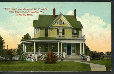 MISSISSIPPI, JACKSON, FAIR VIEW, RES. OF W. E. MALLETT, C.-1914, (898