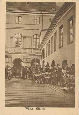 Wilna - 1916 - Ghetto - Vilnius - Lithuania - jewish - postcard - VERY RARE