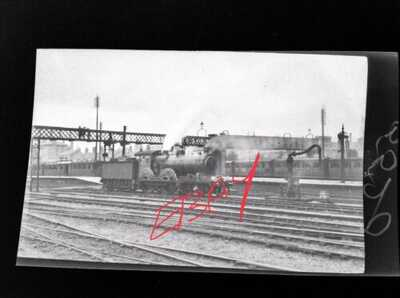 Original Negative x 5 STEAM LOCOMOTIVE LINCOLN RAIL NR RAILWAY STATION
