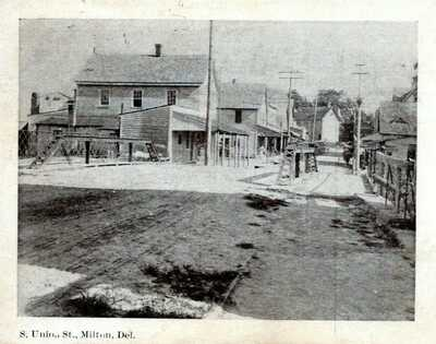 Milton Delaware Postcard 1908 S. Union Street View Postmark Sussux RARE VIEW! LJ