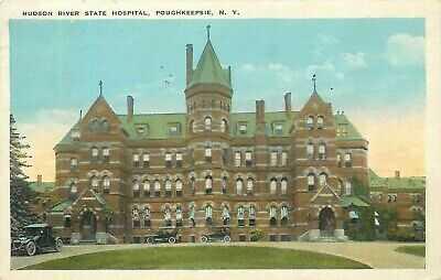 POUGHKEEPSIE NY HUDSON RIVER STATE HOSPITAL 1923 POSTCARD