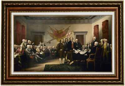 Eliteart-The Declaration of Independence by John Trumbull Oil Painting Giclee