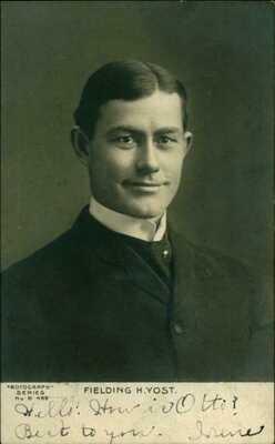 Rare 1905 RPPC Postcard Fielding Yost Football Coach of The Michigan Wolverines