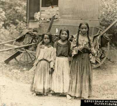 Gypsy Camp Children c1910 Spa Spring Bladensburg Maryland RPPC Photo Postcard