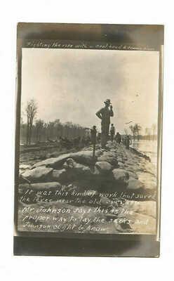ANTIQUE RPPC POSTCARD 1913 Rosedale Mississippi Crevasse Levee Mr. Johnson