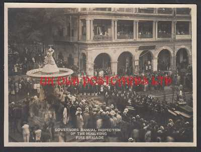 Vintage Photo -  HONG KONG, Governors Annual Inspection of Fire Brigade c 1914