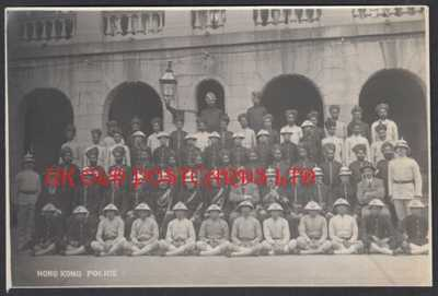 Vintage Photo -  HONG KONG, Police Force, c 1914