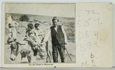 "Turkey ""On the Road To Marsovan"" Rare Early Postcard J2"