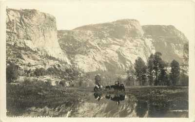 RPPC Postcard Hetch Hetchy Valley Yosemite CA Before Dam c.1910s unposted