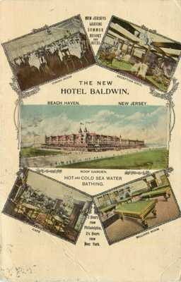 Multiview Postcard, The New Hotel Baldwin, Beach Haven, New Jersey NJ 1912
