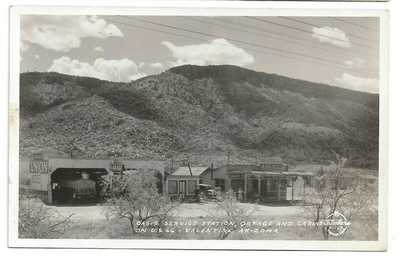 RPPC Oasis Gas Service Station On Route 66 Valentine Arizona 1930s