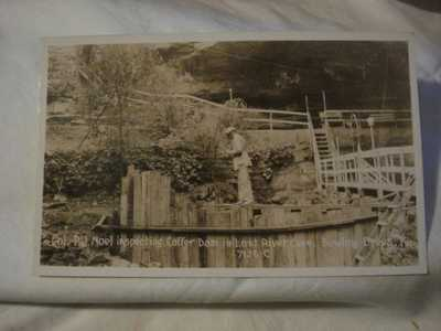 Vintage Photo Postcard Coffer Dam Lost River Cave PJ Noel In Bowling Green KY