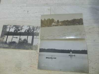 3 old Real Photo Postcards, Lake Taconic, Berlin, NY, Rensselaer County ca 1907