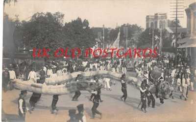 Malaya - PENANG,  Chinese  Street Procession,  Chingay Parade, used 1911 - # 1