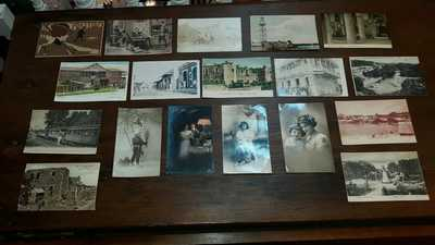 Antique Postcard and Stamp Lot Dominican Republic