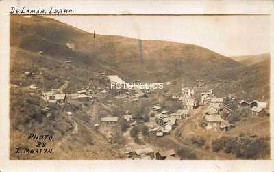 Idaho Gold, Silver Mining Ghost Town Delamar, De Lamar, Owyhee  Early Photo Card