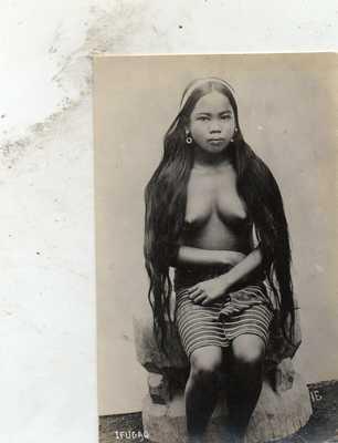 RPPC BARE BREASTED IFUGAO GIRL  PHILIPPINES  PHILIPPINE ISLANDS
