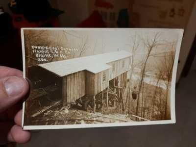 Scarce Blaine, WV Pump and Coal Carrier Hamill C&C Company RPPC Photo Postcard