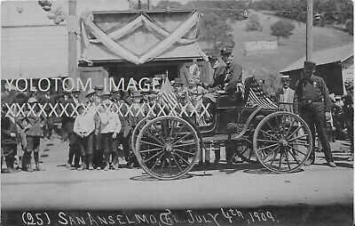 RPPC-Fire Department-1909 Parade-San Anselmo-Ca-Marin