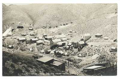 RPPC Seven Troughs Nevada Mining Town Scene Early 1900s Osborn Photo
