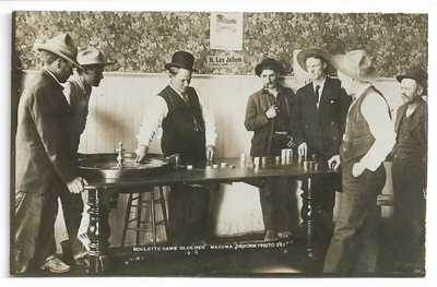RARE Mazuma Nevada Roulette Gambling RPPC 1910s Osborn Photo