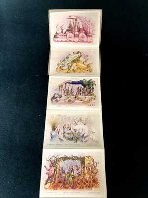 1907 Mardi Gras KREWE OF REX Official Souvenir Float Parade Antique Postcard Set