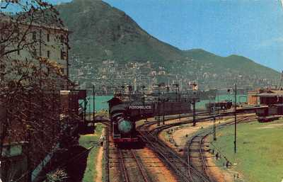 Kowloon Railway Hong Kong 香港 China 中国 - Post Card Posted 1955 - Steam Tr