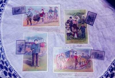 LOUNSBURY antique/vintage postcard Labor Day Series 2046 complete set of 4 *1907