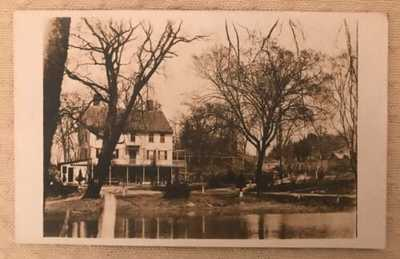Vintage Antique RPPC Real Photo Postcard Henry Bradley's Place House Derby CT