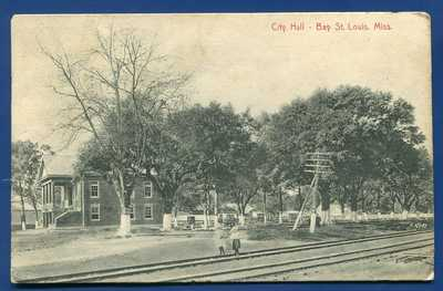 City Hall Bay St Saint Louis Mississippi ms postmarked 1909 postcard