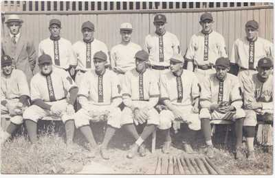 Antique 1910 - 1914 Littleton Co. Baseball Team / Native American RPPC