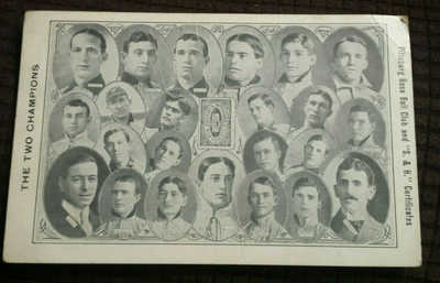 "1909 Pittsburgh Pirates and S&H Green Stamps ""Two Champions""Advertising Postcard"