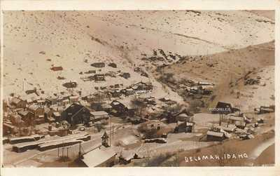 De Lamar Delmar Idaho Gold, Silver Mining Ghost Town Owyhee Real Photo Card