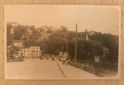 Vintage RPPC Real Photo Postcard Viaduct Bridge Over Naugatuck River Derby CT