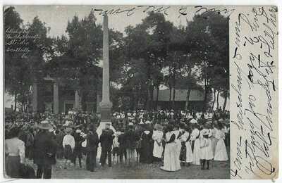 RARE 1909 RPPC Postcard - Unveiling Confederate soldiers monument Buckingham VA