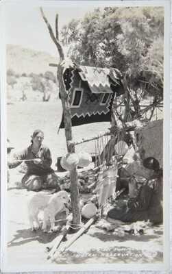 Seven Vintage Native American RPPC Real Photo Postcard, Ganado, Arizona.