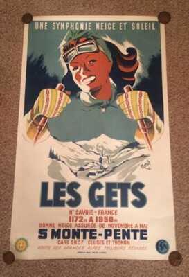 Affiche ancienne LES GETS Haute Savoie