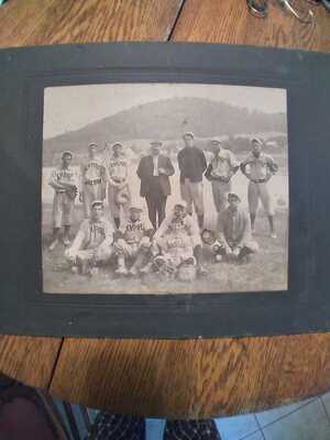 Antique Photograph Of The Empire, Michigan Baseball Team Photo By Jenny Smith Ma