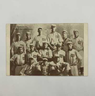 Antique Postcard Team of the Bluegrass Winchester Hustlers Kentucky - Fred Toney