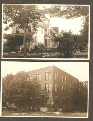 COLEMAN MI  HECOX HOTEL, vtg RESIDENCE HOME  RPPD pcd Wasson  PHOTO