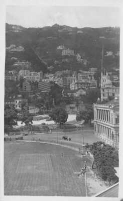 HONG KONG CRICKET GROUND & SUPREME COURT - INTERESTING MESSAGE RP CARD #25415