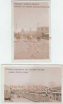 UNIQUE RARE ARCHIVE 14 Real Photo RPPC 1914 Juarez Mexico Poncho Villa Oneofkind