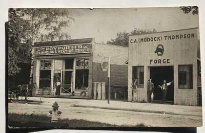 1913 Civil Rights pioneer, Paris, Illinois photo postcard Black American history