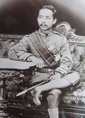 THAILAND SIAM real photo postcard KING OF SIAM Paramindr Maha Chulalong Korn