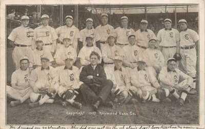 Baseball 1907 Cleveland Indions Team Postcard