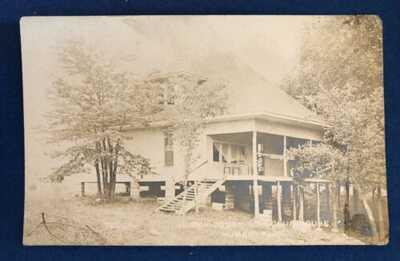 RPPC HOMER OGDEN GUN CLUB HOUSE Homer Park Illinois IL Photo Postcard 1907-1917