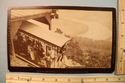 AW Judd Lookout Mountain Chattanooga TN Depot at Point railroad cable car