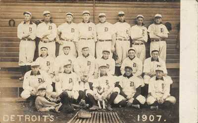 Baseball Real Photo Postcard 1907 Detroit Tigers Team Picture